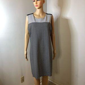 Isaac Mizrahi Sleeveless Black/White Dress Size XL
